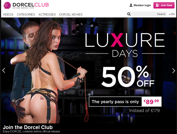 Dorcel Club Mobile Account