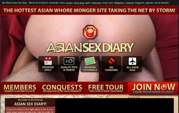 Free Asiansexdiary Acounts