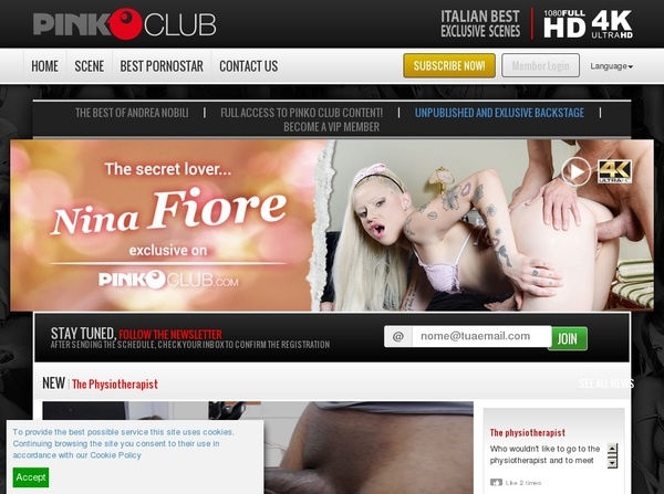 Joining Pinkoclub.com