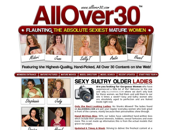 New Free Allover30 Account